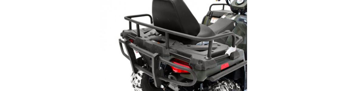 С помощью чего можно перевозить много вещей на квадроцикле?