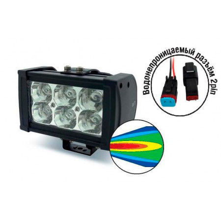 Светодиодная фара AVS Light SL-1506 (18W)