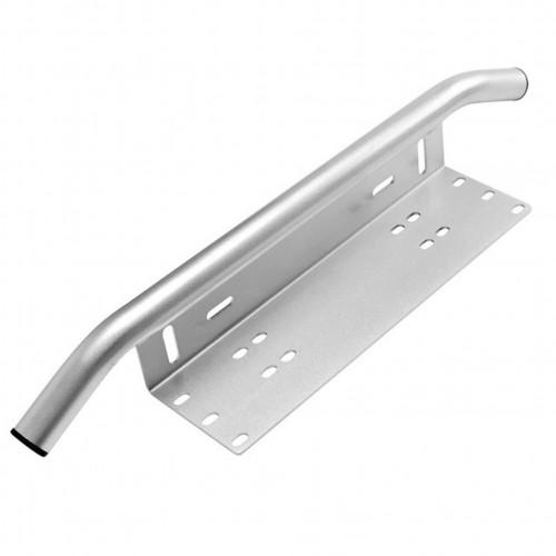 Кронштейн алюминиевый хром с трубой для крепления led фар над номерным знаком