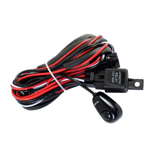 Проводка с кнопкой для двух светодиодных фар