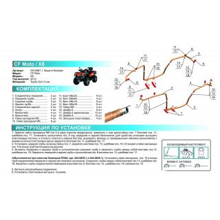 Боковая защита (бампер) CF MOTO X8 2012-