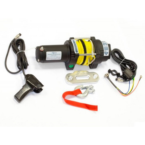 Лебедка электрическая СТОКРАТ для ATV QX 4.0 S 12V 1.6 л.с.