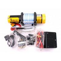 Лебедка для квадроцикла T-Max ATW PRO 3500 электрическая с синтетическим тросом