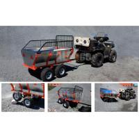 Прицеп одноосный четырехколесный с бортами (ALFeco) стальной ATV400