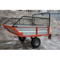Прицеп одноосный двухколесный с бортами (ALFeco) стальной ATV200