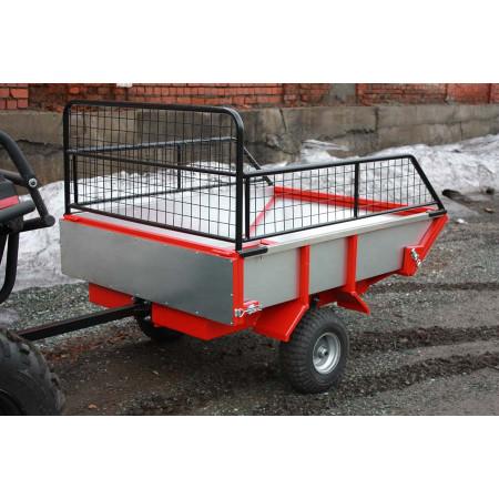 Прицеп одноосный двухколесный с бортами (ALFeco) стальной ATV250