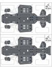 Защита днища для квадроцикла CF MOTO X8 H.O./X10 2018-  алюминиевая