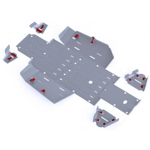 Защита днища для мотовездехода UTV Honda Pioner 500 (2015-) Rival