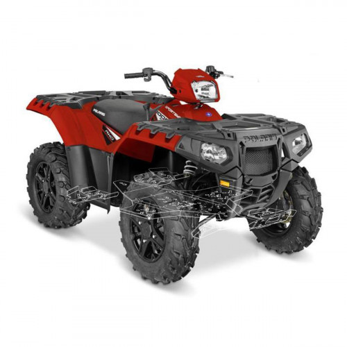 Защита днища для квадроцикла Polaris XP 1000 Sportsman (2017-) пластиковая