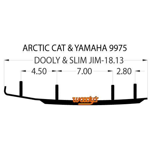 Коньки для лыж снегохода Arctic-Cat DA4-9975