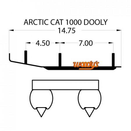 Коньки для лыж снегохода Arctic-Cat DA6-1000