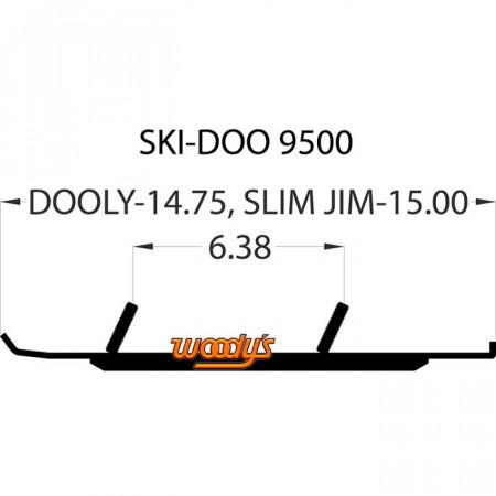 Коньки для лыж снегохода Ski-Doo DS4-9500