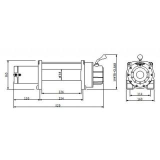 Лебедка автомобильная электрическая Master Winch 6800-12V