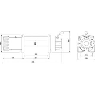 Лебедка автомобильная электрическая Master Winch 8500-12V