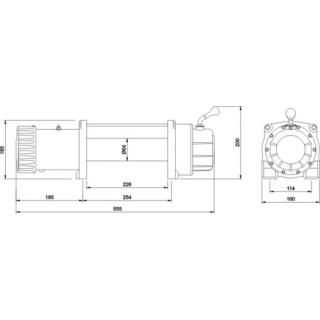 Лебедка автомобильная электрическая Master Winch 12000-12V