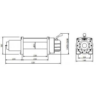 Лебедка автомобильная электрическая Master Winch 6000-12V