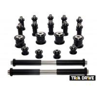 Комплект капролоновых втулок для всей подвески Stels ATV 300 B + втулки амортизаторов