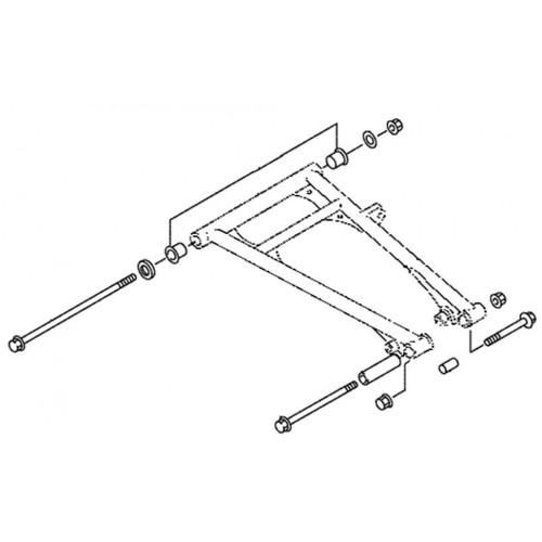 Втулки А-образного нижнего рычага Sledex для Yamaha
